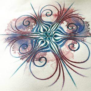 Mandala mandala's drawing drawings tekening tekeningen art pencil potlood pencildrawing potloodtekening paper papier caranD'ache wings vleugels wing vleugel