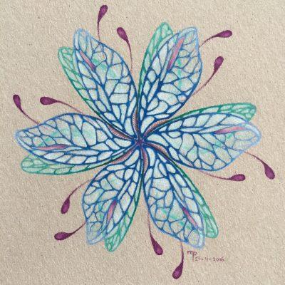 Mandala drawing drawings pencil pencildrawing blue wings carandache art drawart Artist paper colors