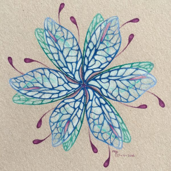 Mandala drawing drawings pencil pencildrawing blue wings carandache art drawart Artist paper colors