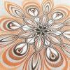 Mandala mandala's drawing drawings tekening tekeningen art pencil potlood pencildrawing potloodtekening paper papier caranD'ache wings vleugels wing vleugel Orange oranje white wit frame framed frames lijst