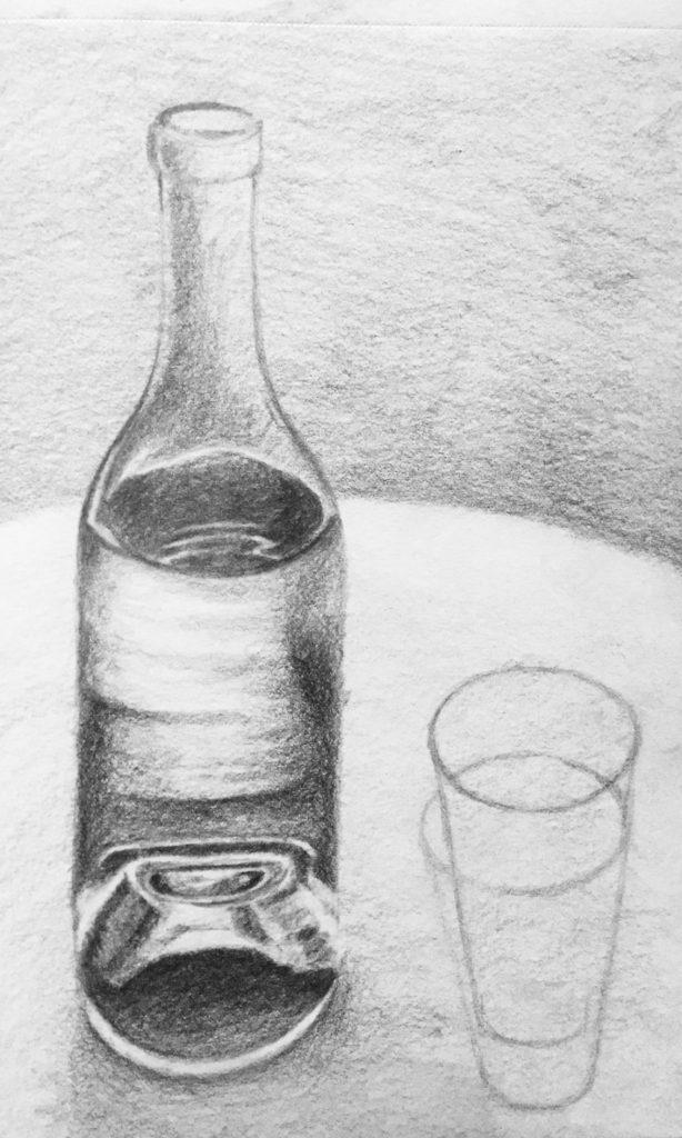 tekening, drawing, teken, draw, potlood, pencil, black/white, black, white, zwart, wit, cursus, tekenen, leren, oefenen, contrasten, licht, donker, values, light, dark, lessons, beginner, gevorderd, schetsen, arceren, papier, paper, drawpaper, schetsboek, sketchbook, sketch, sketching, schets, houtskool, conte, houtskoolpotlood, tekencursus, schildercursus, Zoetermeer, stilleven, step by step, before, after, voor en na, gum, eraser, erase, gummen, art, kunst, artist, pencil artist